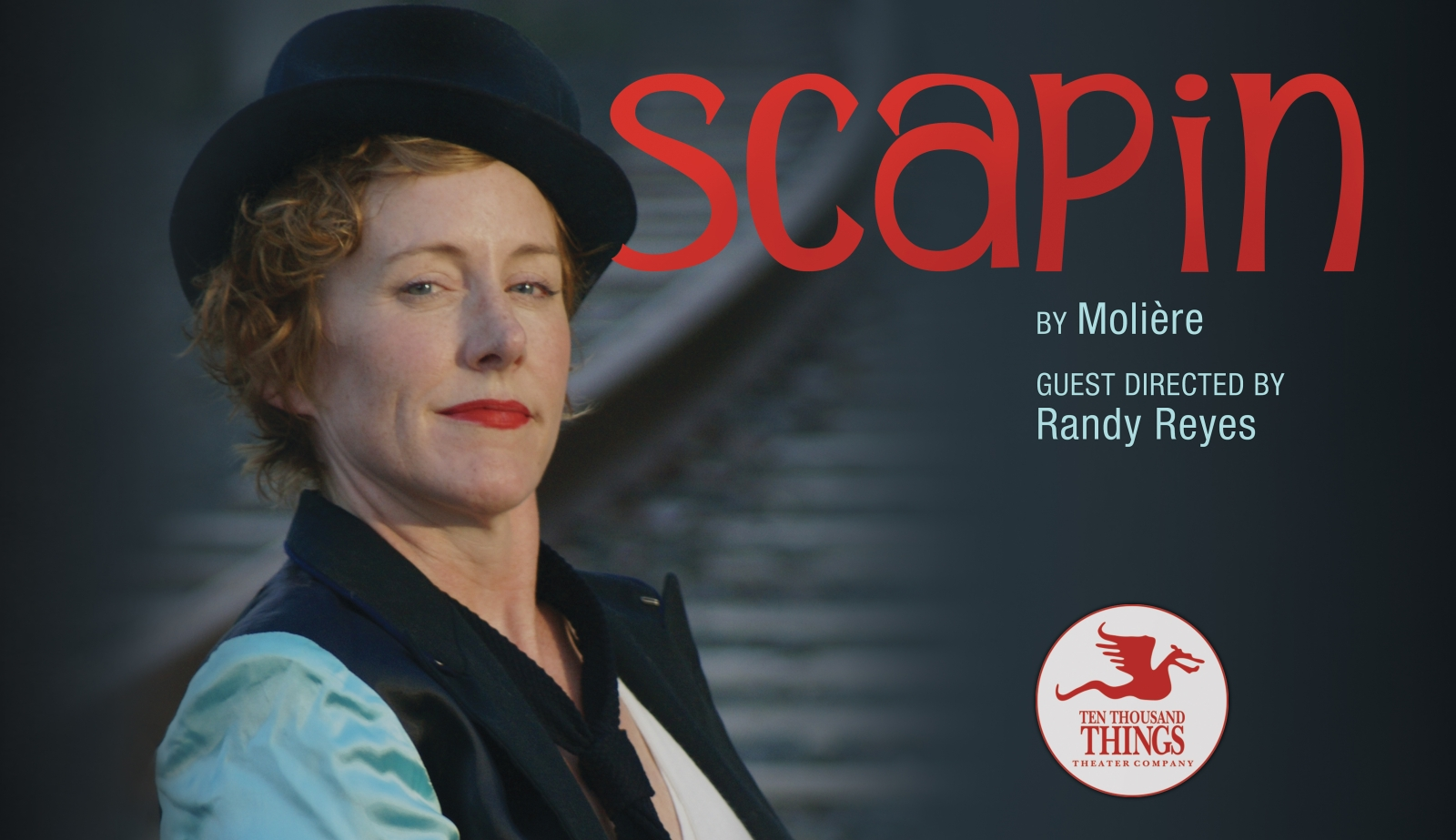 The promotional photo of Scapin, starring Sarah Agnew. Photo by Peter Vitale.