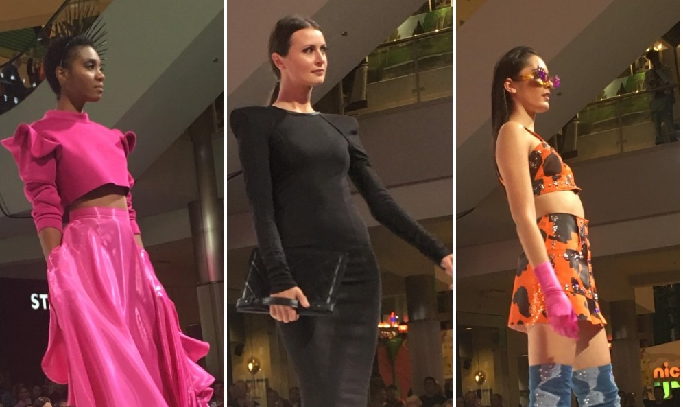 Designs, from left to right, are Christopher Straub, Laurence Basse, and Mondo. Each brought a different point of view to Mall of America's Curated Style fashion show. Photos by Anna Bjorlin.