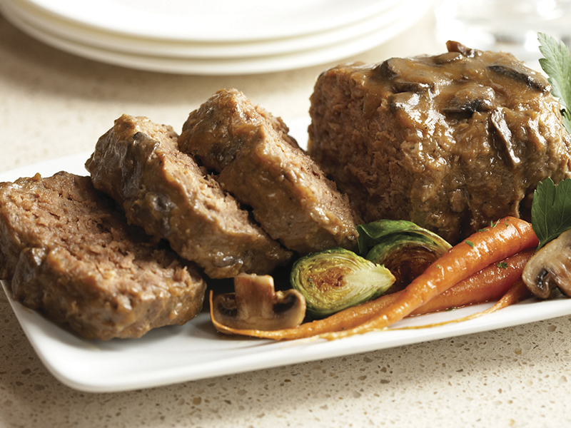 Comfort Food Elevated Wild Rice Meatloaf With Mushroom Demi Glace
