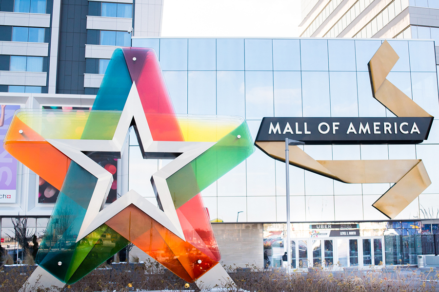 The north entrance to the Mall of America.