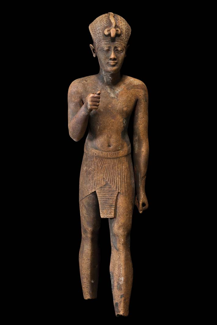 An state of a man from ancient Egypt.