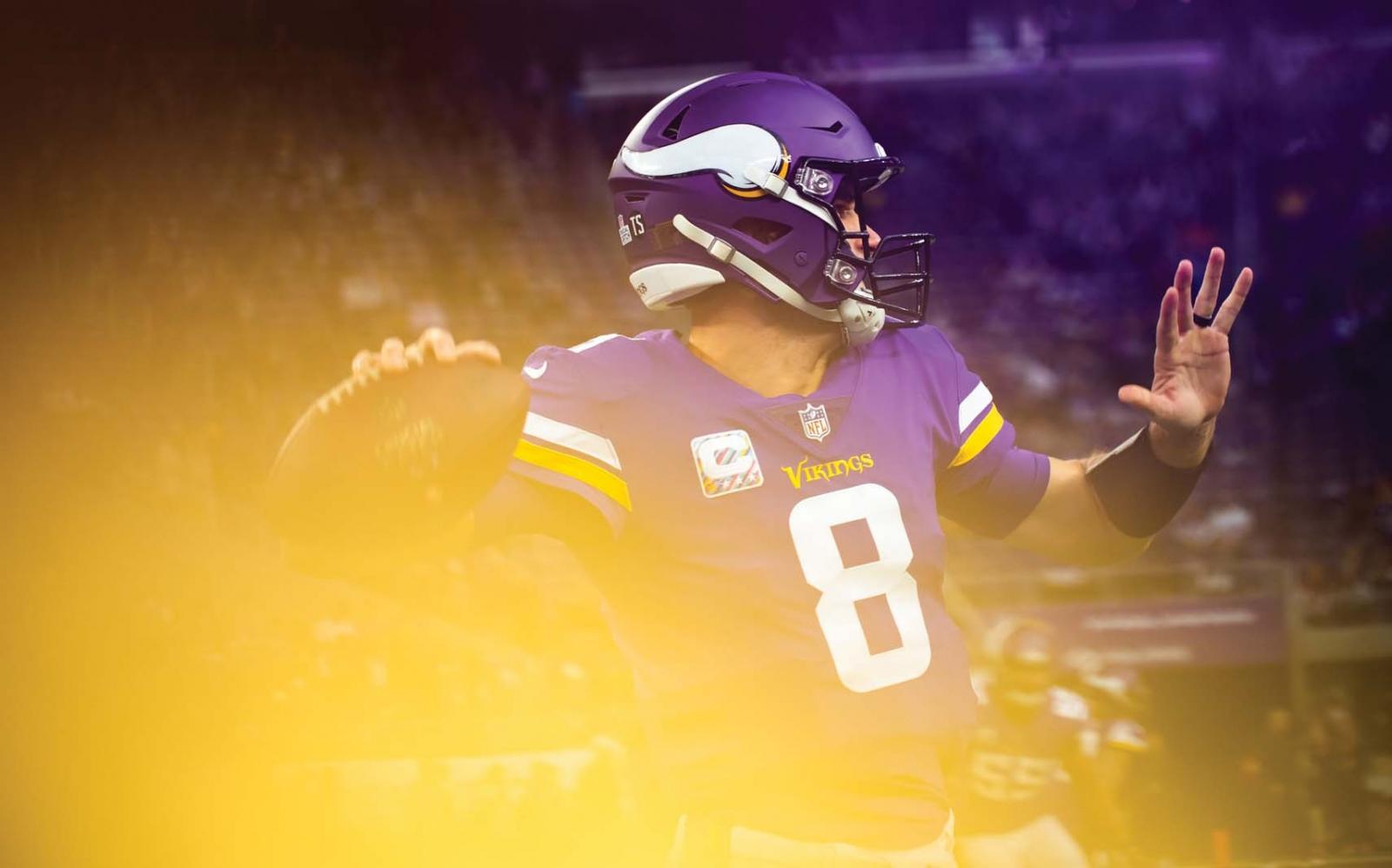 Kirk Cousins of the Minnesota Vikings.