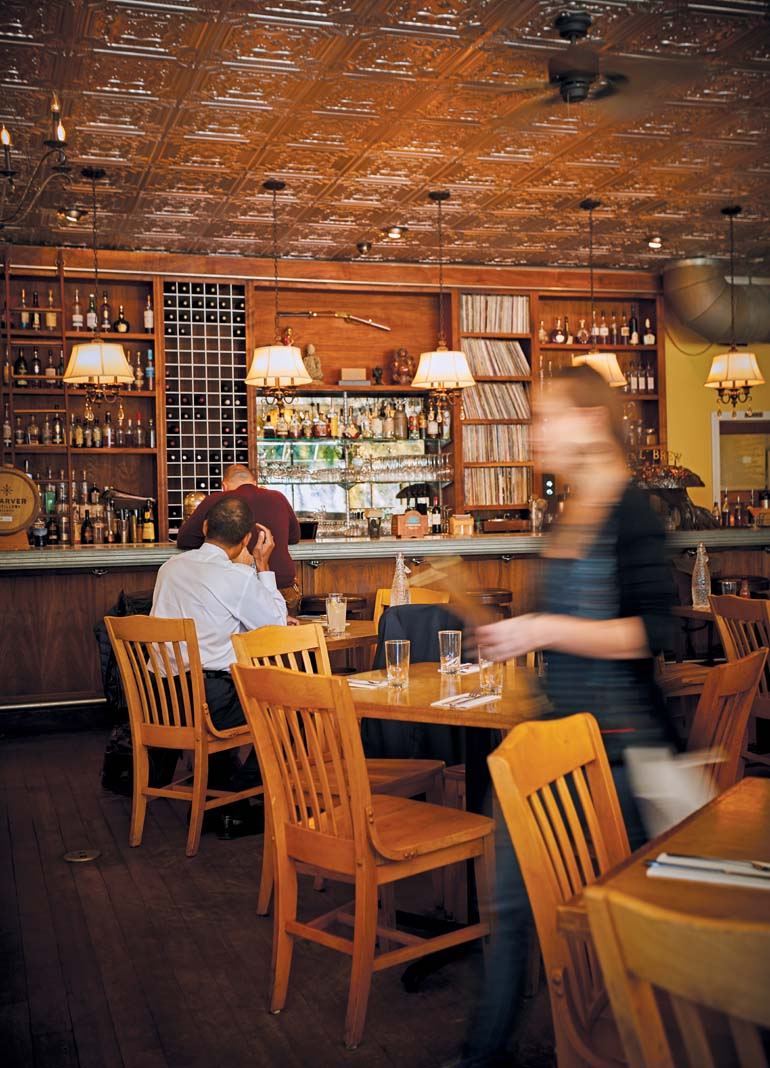 The interior at Ngon Bistro.