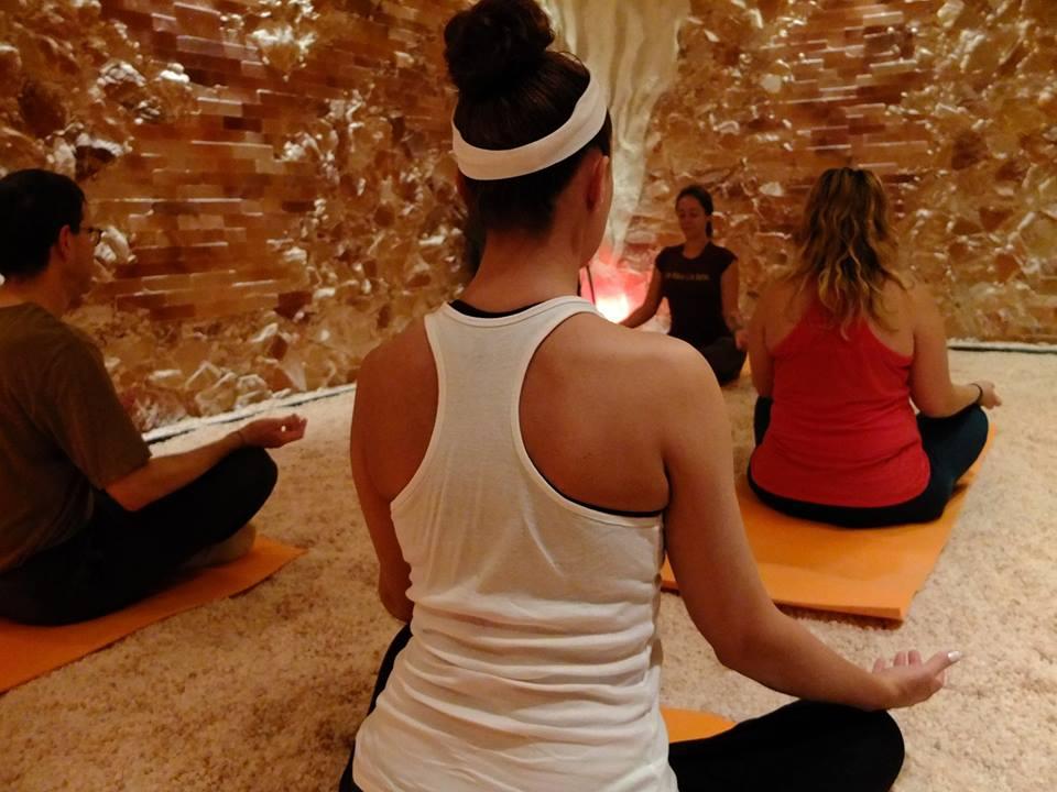 Yoga at The Salt Cave Minnesota. Photo courtesy The Salt Cave Minnesota.