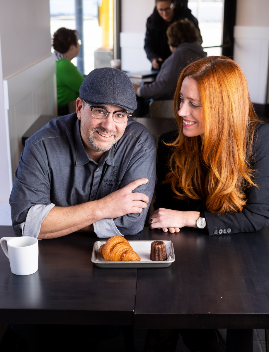 Pastry chef John Kraus and CEO Elizabeth Rose