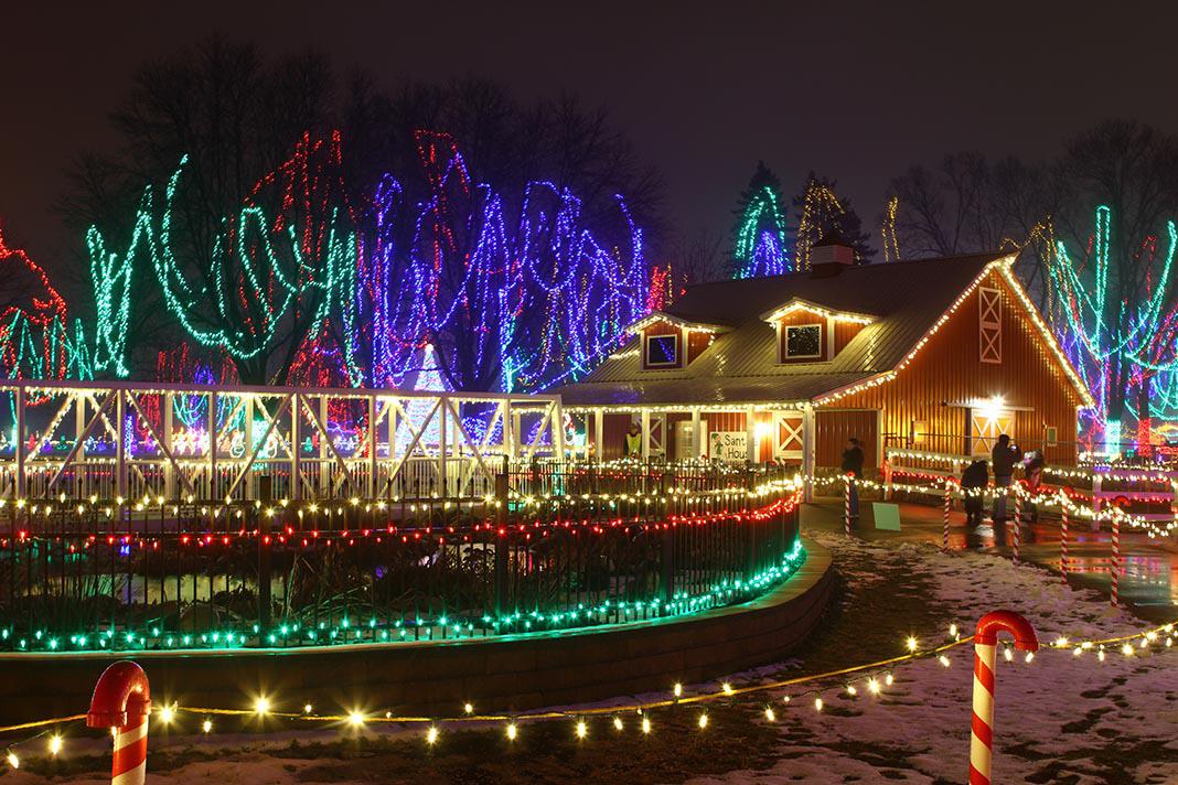 Holiday lights display in Mankato Minnesota