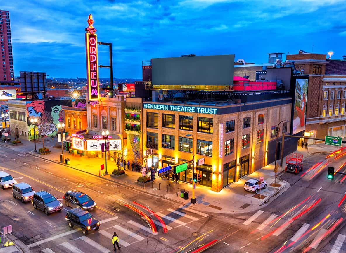 An exterior photo of 900 Hennepin. Courtesy Hennepin Theatre Trust.