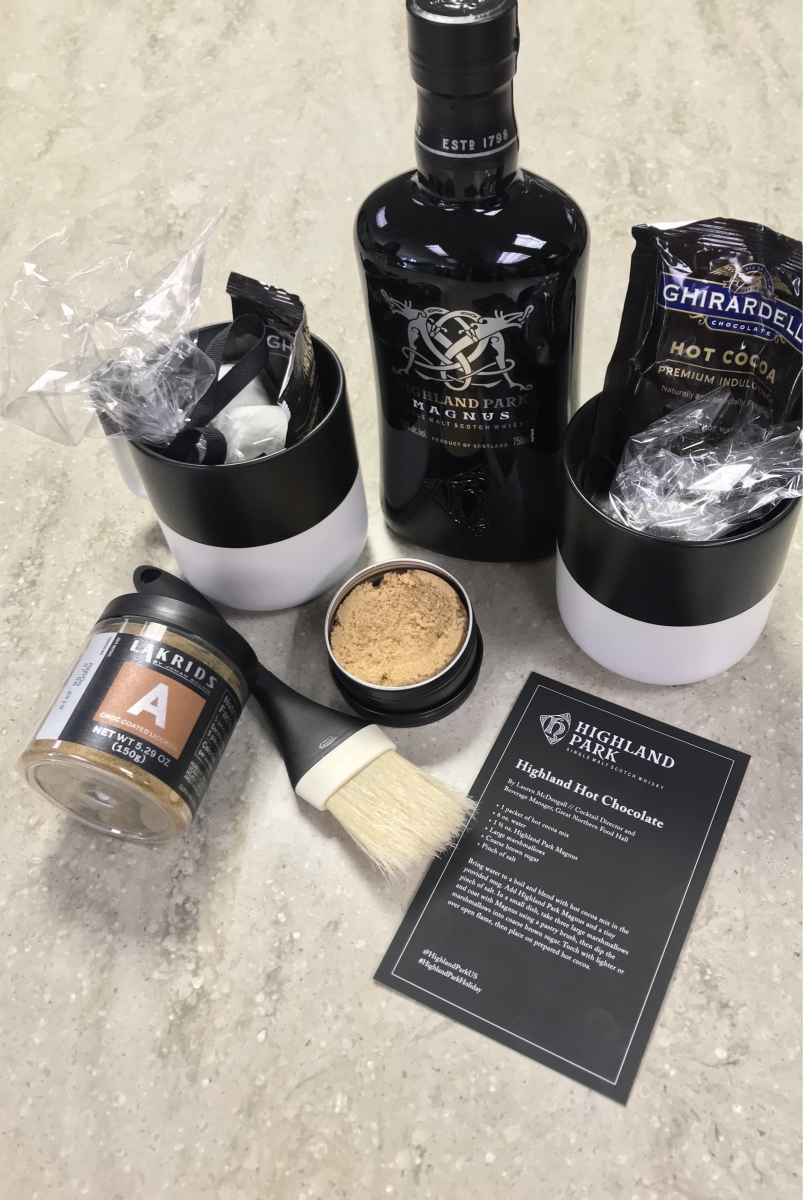 A photo of the cocktail kit from Highland Park. Photo by Mike Berger.
