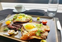 Twin Cities Steak & Eggs from Lela Restaurant at Sheraton Bloomington Hotel,