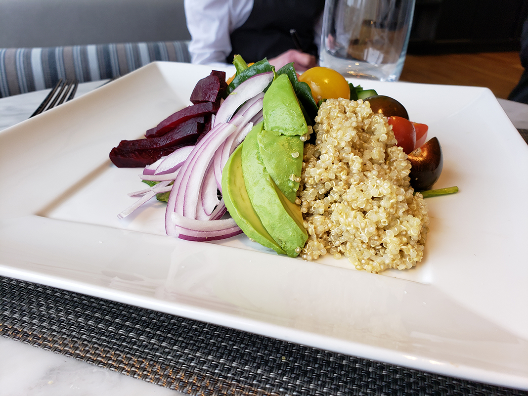 Quinoa Farmer's Salad from Lela Restaurant at Sheraton Bloomington Hotel