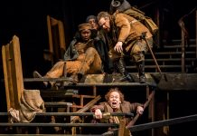 Joy Dolo, Becca Hart, Reed Sigmund and Dean Holt in 'The Hobbit' Photo by Dan Norman