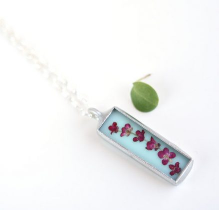 Flower Necklace by Skipping Lilies