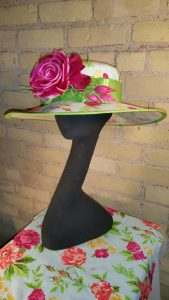 """Frankie,"" one of the hats Angie Hall Sandith contributed to ""Grace."""