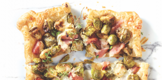 Ham and Brussels Sprout Tart Dijon