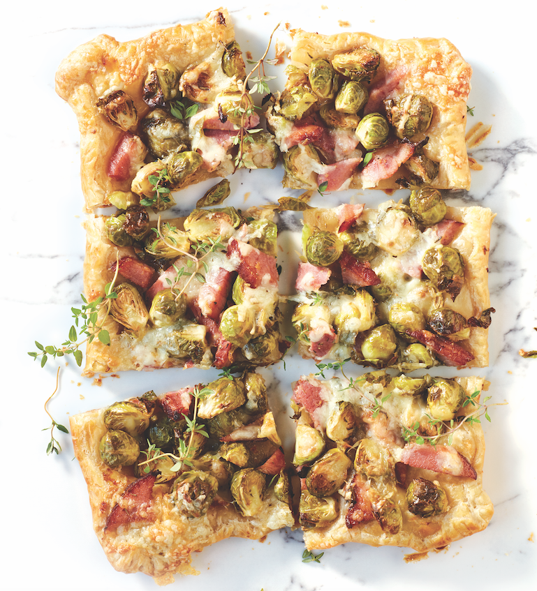 Ham and Brussels Sprout Tart Dijon, one of Robin Asbell's leftover ham recipes