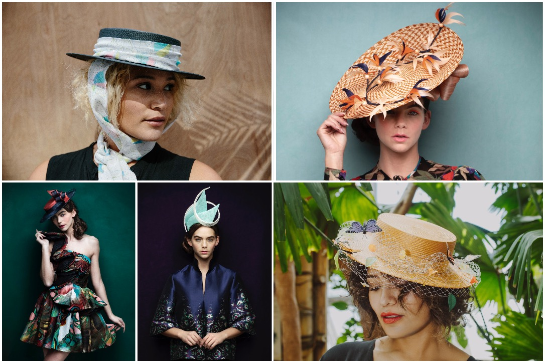 Southern-inspired wide-brimmed hats are often Kentucky Derby picks, but anything goes. These hat selections are from local milliners Karen Morris and Celina Kane.