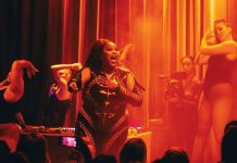 Lizzo performing at Icehouse in 2018