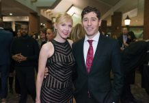 From left: Sara Clark, Mayor Jacob Frey