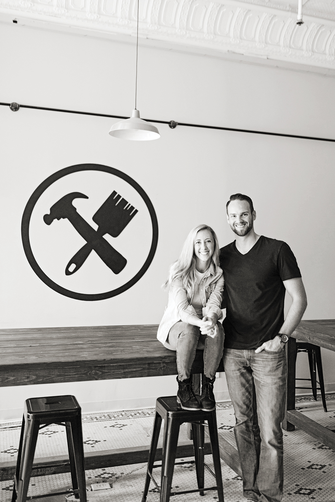 Photo of Jill and Jason Miller, owners; Projects in Person