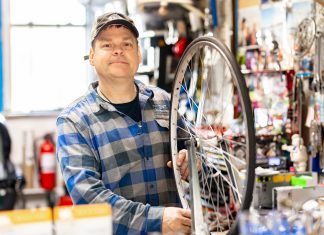 Photo of Nokomis Cycle Bike Shop Owner, Dwight Gronlund