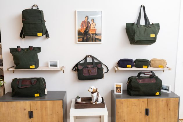 A wall display for outdoor travelers at J.W. Hulme Co.