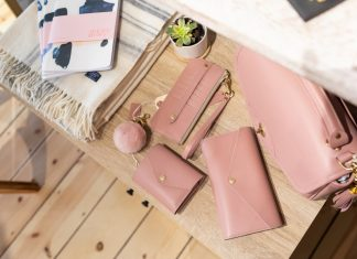 Pretty in pink leather accessories at J.W. Hulme Co.