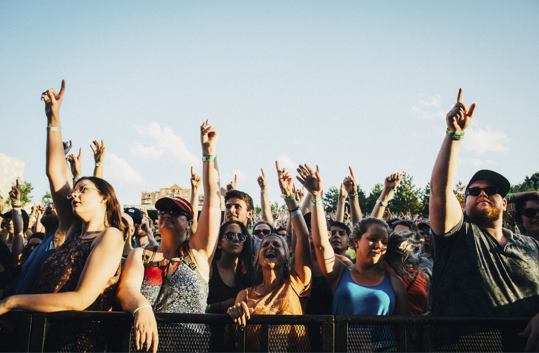 Photo of crowd at Rock the Garden concert