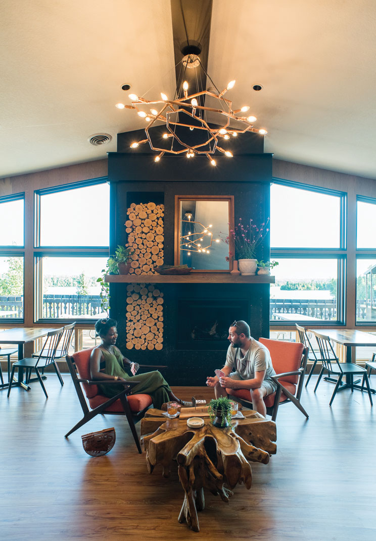 The Poplar Haus restaurant has thrilling lake views