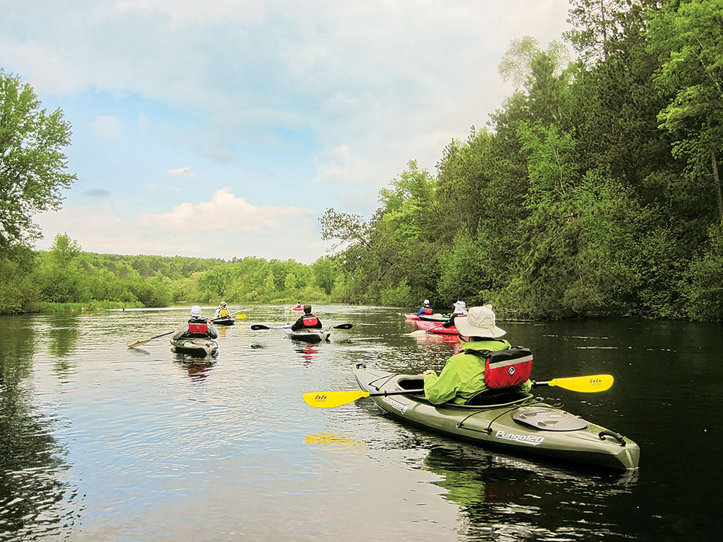 Kayakers on the Namekagon River
