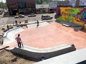 Skate-able Art Plaza at Juxtaposition Arts