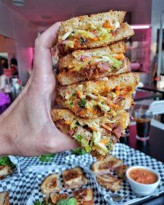 All Square BBQ Coleslaw Grilled Cheese
