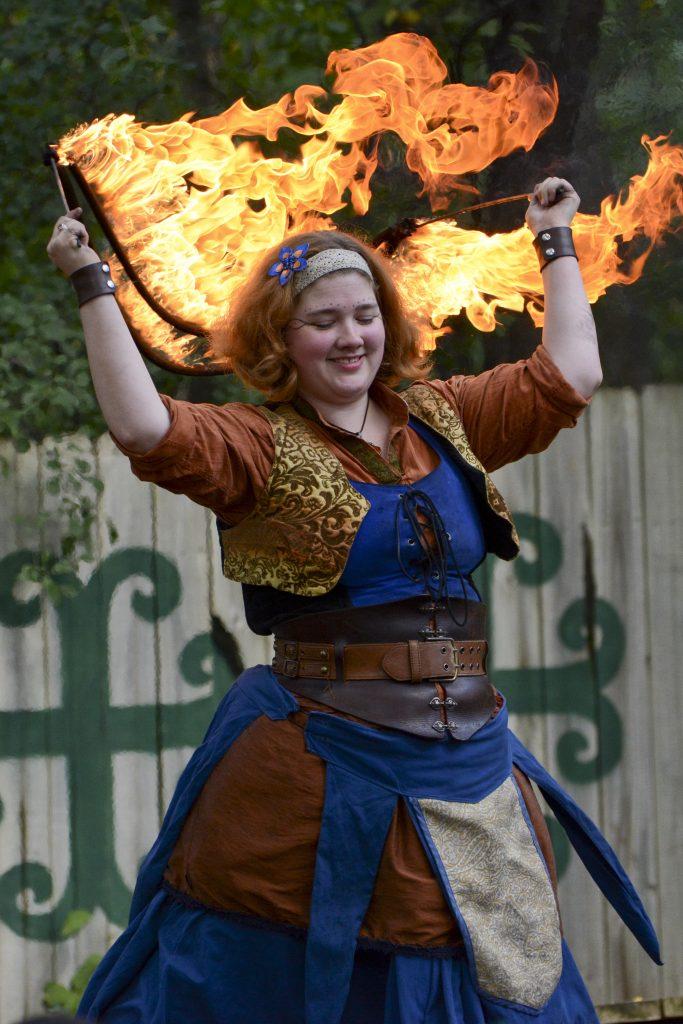Fandazzi Fire performer at the Minnesota Renaissance Festival