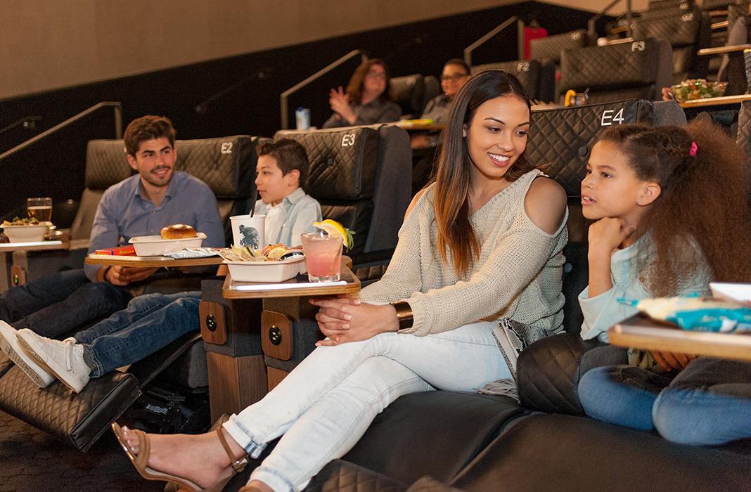Watching a movie at CMX Market Cinemas