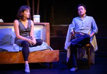 Emi, played by Meghan Kreidler, and our resident Hot Asian Doctor Husband, Eric Sharp