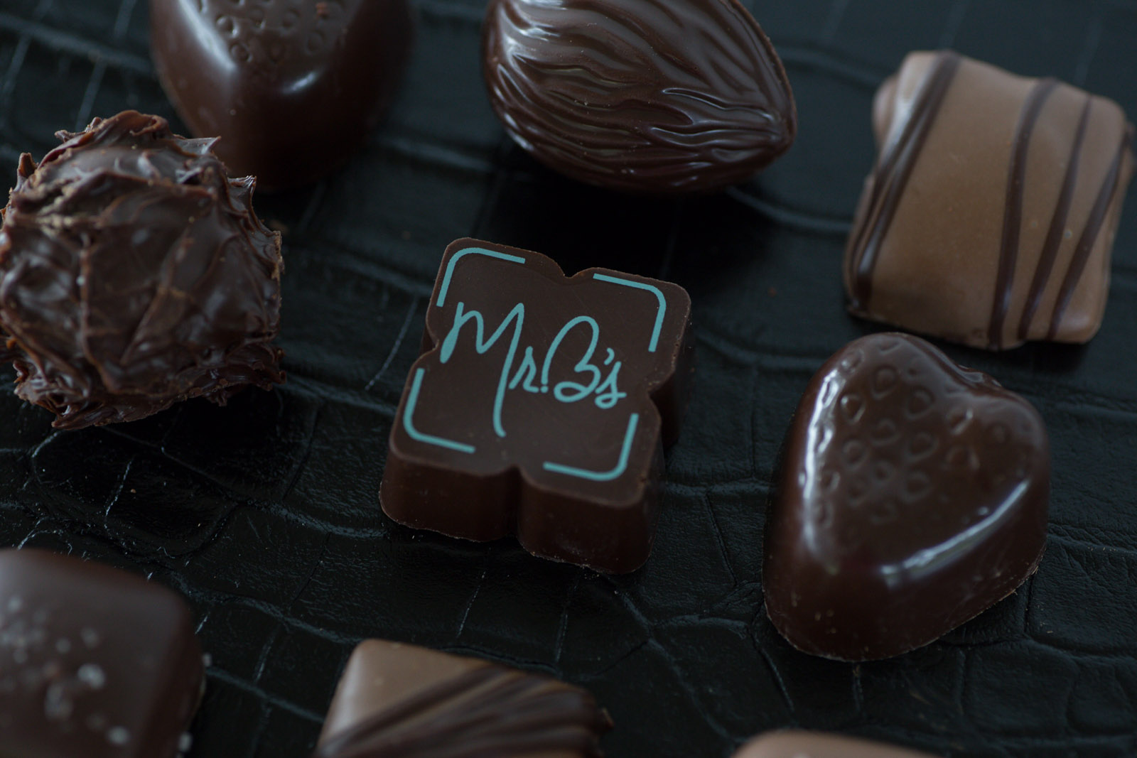 A box of chocolates from Mr. B's Chocolates in the Willmar Lakes Area