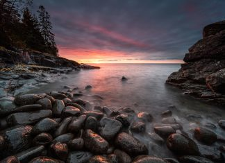 Sunrise at Cascade River