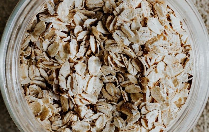The basis of oat milk...oats!