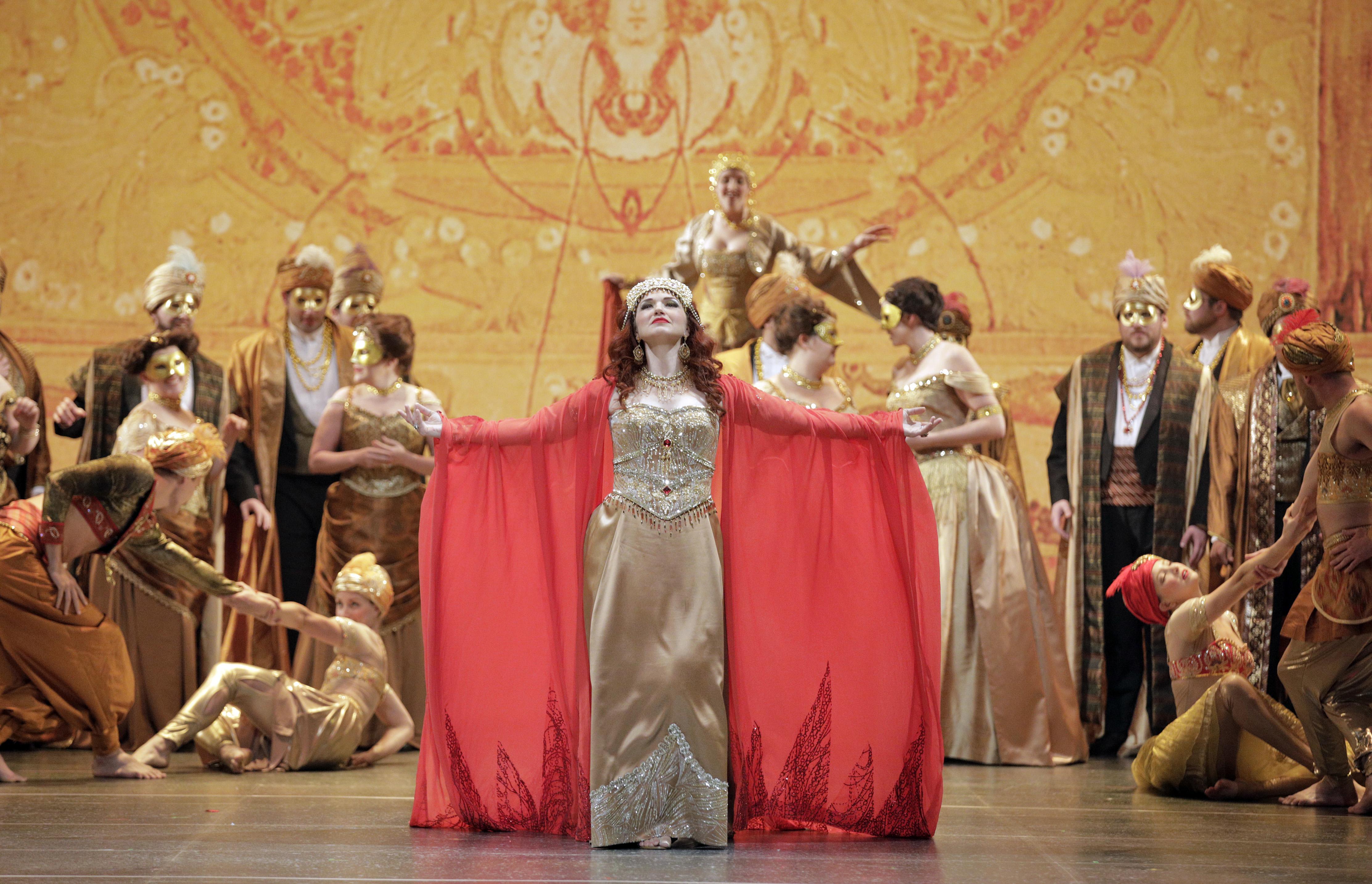Actors performing Thaïs on the Minnesota Opera stage.