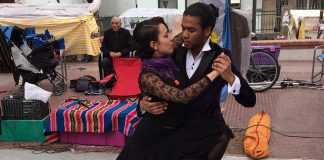 Tango Dancers in the San Telmo Neighborhood of Buenos Aires.
