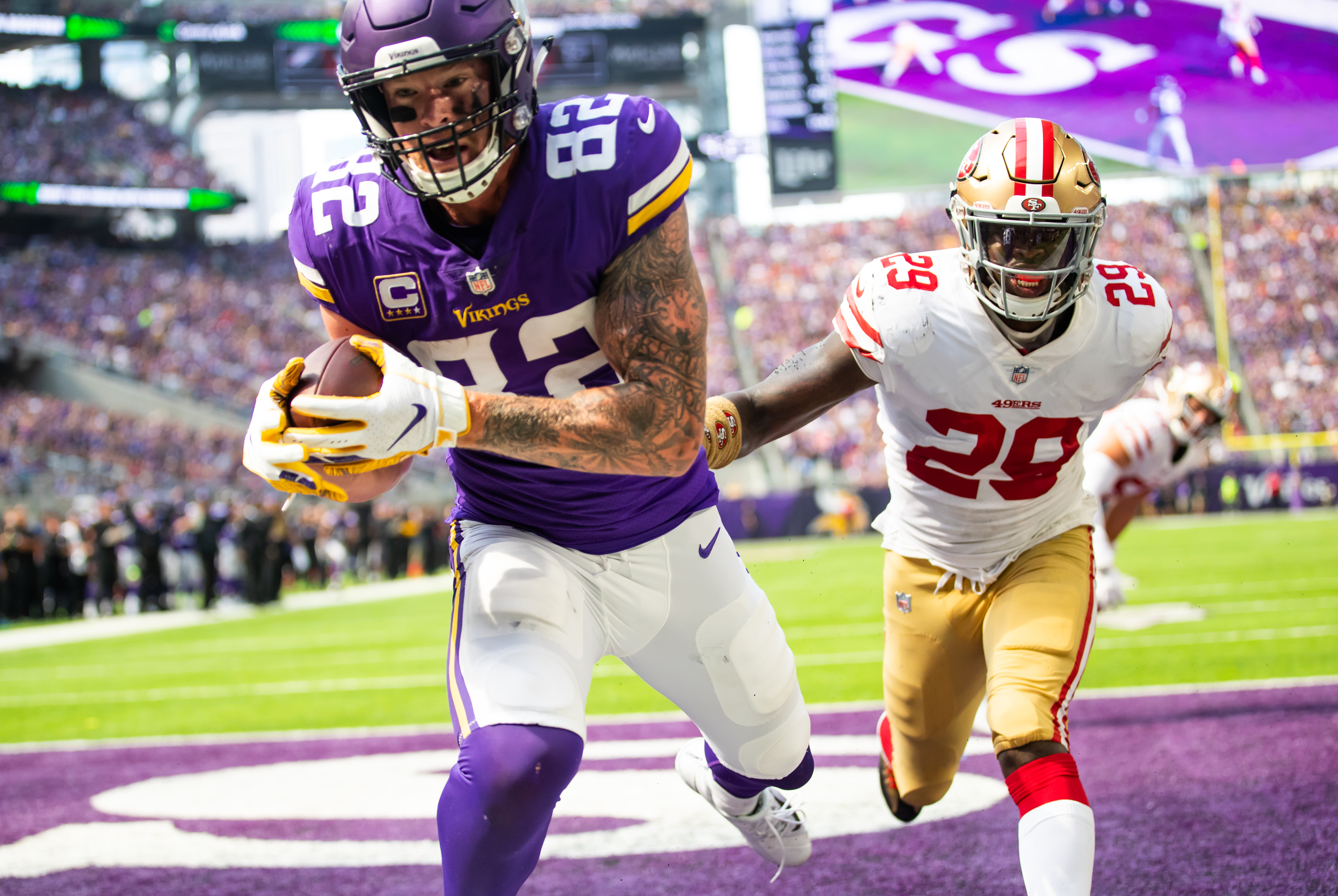 An image from September 9, 2018 regular season home game against the San Francisco 49ers. The Vikings won 24-16.