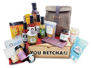 A box that includes a curated selection of Minnesota foods, recipes, and a canvas tote