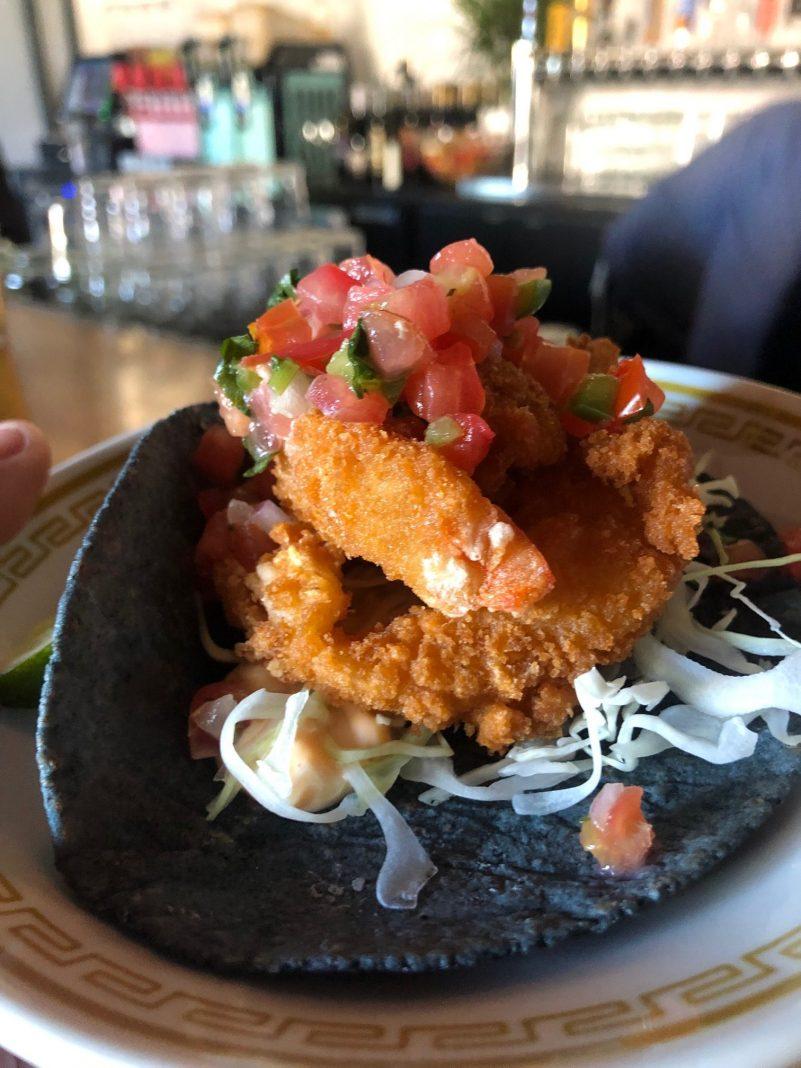 Shrimp Tempura Taco, $4.95 at Prieto