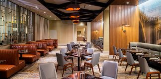 A high class dining room at the new Ten 01 Social restaurant and bar