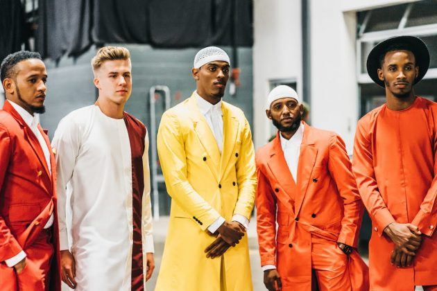 Some of the men's looks from Ramadhan Designs