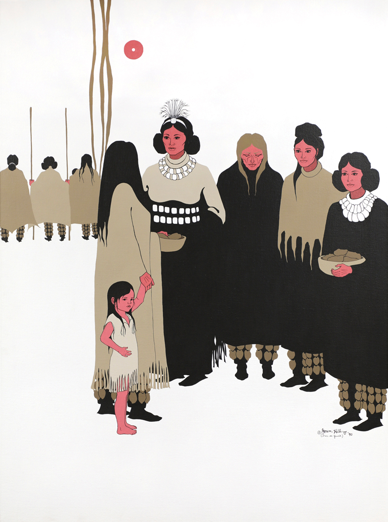 "Joan Hill; Muskogee Creek and Cherokee, b. 1930; ""Women's Voices at the Council,"" 1990"