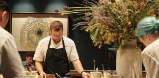 Chef de partie Sam Daigle prepares for service