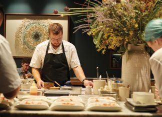 Chef de partie Sam Daigle prepares for service