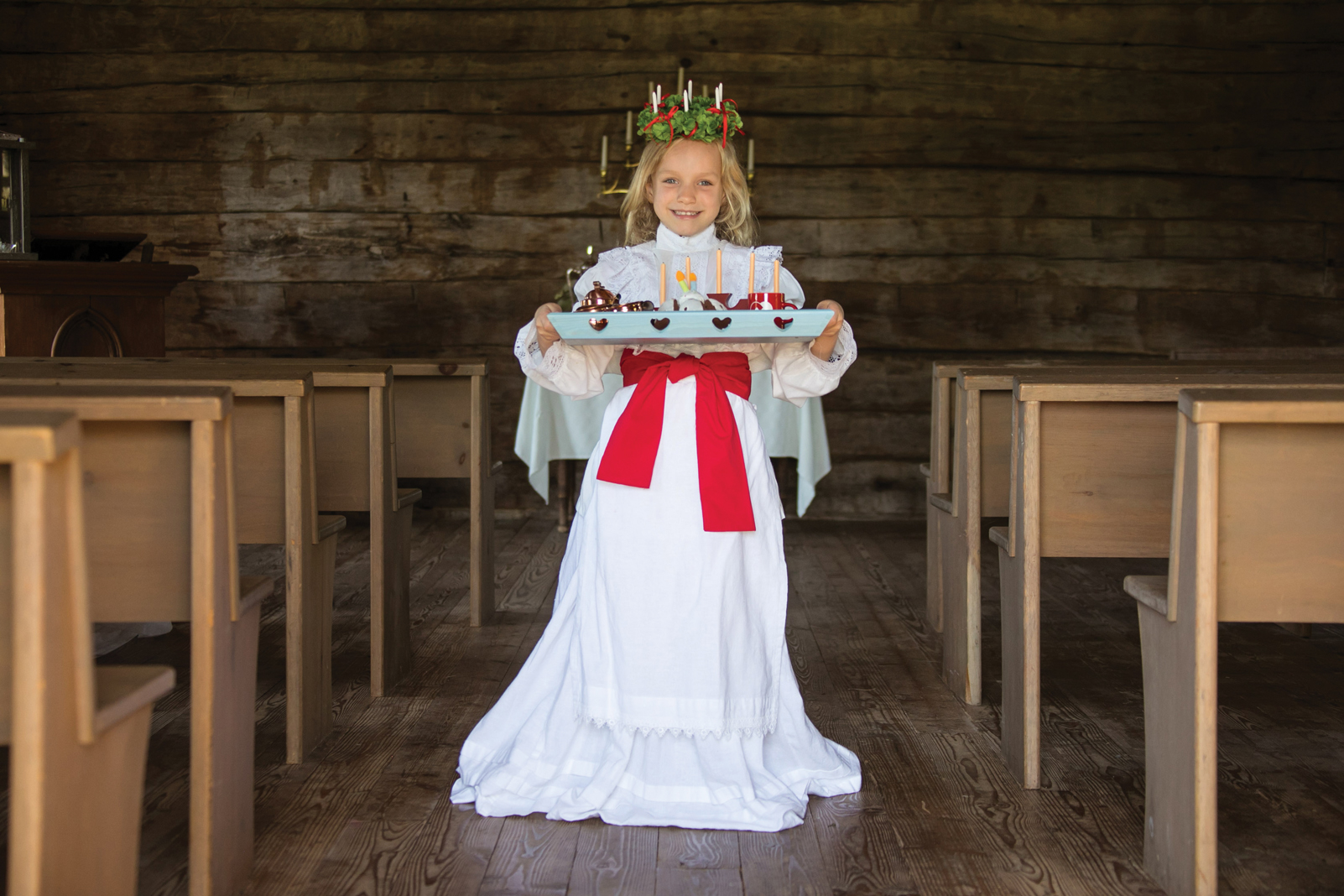 The Swedish Christmas story of Saint Lucia comes alive at the Gammelgården