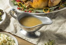 Dark Homemade Turkey Gravy