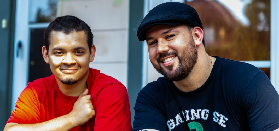 "Co-hosts of the new podcast ""What's Good, Man?"" (from left): Tony ""the Scribe"" Williams and Kyle ""Guante"" Tran Myhre"